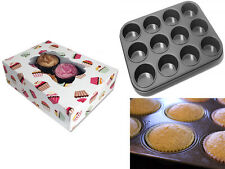 3 x CUPCAKE MUFFIN GIFT BOXES HOLDS 6 CUPCAKES + NON STICK 12 CUP CAKES PAN TRAY