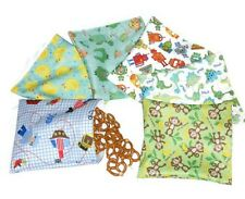 Reusable snack bag and sandwich bag Set of 6 pcs- Mix pattern for boy