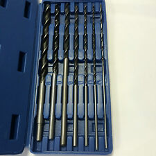 PROFESSIONAL 7pc EXTRA LONG 300MM  BRAD POINT AUGER WOOD DRILL BIT SET &  CASE