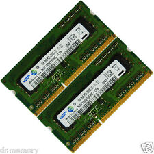 2 GB (2 x 1 GB) ddr3-1066mhz PC3-8500 Non-ECC Unbuffered 204 pin Laptop memoria (RAM)