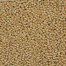 Miyuki Round Seed Beads Size 11/0 (2mm) Galvanized Yellow Gold 24g Tube (B39/3)