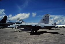 Original colour slide F/A-18F Super Hornet 165808/NJ-134 of VFA-122 US Navy