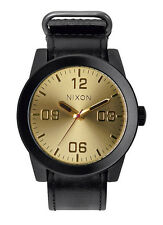 NEW Nixon A243-010 Corporal Black Gold Watch