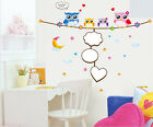 Owl Family Wall Sticker Vinyl Decal Decor Removable Nursery Kids Art Baby