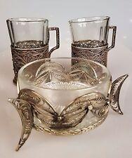 Untersatz Filigraner Teeglashalter Zuckerdose versilbert Russland um 1920-1930 j