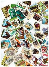 LOT OF 50 STAMPS HORSES RACE STALLION MARE COLT HARNESS THOROUGHBRED HIGH JUMP