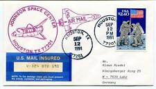 1991 Johnson Space Center Huston Air Mail US Insured SPACE NASA USA