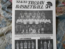 1982-83 NEW CASTLE HS BASKETBALL GUIDE PROGRAM STEVE ALFORD 1983 INDIANA UCLA AD