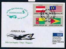 59451) SQ A 380 FF Los Angeles - Tokio Japan 1.7.2011 SoU ab UNO New York