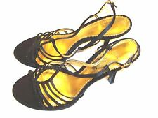 The Touch Of Nina 9 Black Strappy Sexy  Sandal Style High Heel Evening Shoes