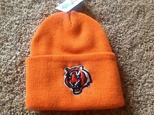 Cincinnati Bengals Orange Officially Licensed NFL Cuffed Toboggan Hat-BNWT's