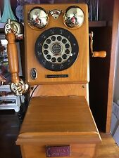 Antique Wall Phone Country Classic Vintage Rotary Telephone Limited Edition