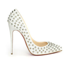 Christian Louboutin Follies Spikes 120 Glitter Luminor Vare Sizes  *GENUINE* NEW