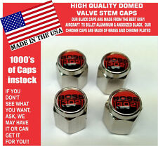 Chrome Ford Boss 302 5.0 Red Coyote Mustang Cobra Shelby GT Valve Stem Caps