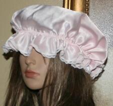 LOT OF 4 VINTAGE LACE NET SATIN HEAD PIECE NIGHT BOUDOIR CAP BONNET VOGUE