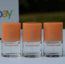 Lot 3 x Clinique Happy Perfume Mini Spray .14oz/4ml each, total 0.42oz / 12ml