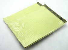 """LOT 2 SCM 51683 LEGAL PADS WIDE RULED CANARY 8"""" x 11-3/4"""" 3/PACK 50 SHEETS/PAD"""