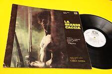 SAVINA LP LA GRANDE CACCIA OST ORIG ITALY 1974 PROMO EX++ GATEFOLD + INSERTO