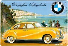 BMW OLDTIMER 502 * REISE * WERBE BLECHSCHILD * NOSTALGIE *RETRO* 20X30 * NEU!