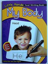 Little hands first writing book - my body wipe clean book