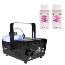 Chauvet Hurricane 1101 Water-Based Fogger Machine w/ Strawberry Scent Fog Juice