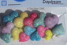 VAT Free Dress It Up Daydream Sparkly Hearts 15 Buttons Crafting Cardmaking New