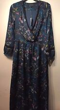 Banana Republic Wrap Maxi Dress, Teal SIZE 8T 8 T      #481606