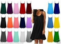 HOT Womens Plain Swing Vest Sleeveless Top Strappy Cami Ladies Plus Size*CamiLng