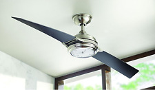 """Unique 56"""" Integrated LED Clock Light Ceiling Fan + 6-Speed Remote Airplane Cool"""