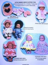 "NG Creations Sewing Pattern #1 fits 5"" Berenguer Baby Dolls Lots To Love"