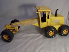 "VINTAGE NYLINT YELLOW DIECAST ROAD GRADER - 14"" LONG"
