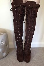 Stunning  Liz Lisa Wedge Heel Long Boots Japan Kawaii Lolita Gyaru M