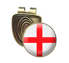 ENGLAND FUSION CAP CLIP & MAGNETIC GOLF BALL MARKER IN BRONZE