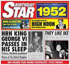 64th 1952 Birthday Gifts - 1952 Chart Hits Britpop CD and 1952 Greetings Card
