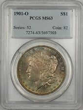 1901-O Morgan Silver Dollar $1 Coin PCGS MS-63 Nicely Toned (13)