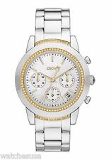 DKNY Ladies Chronograph MOP Dial Stainless Steel Bracelet Watch NY8588
