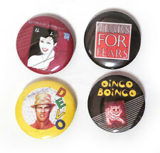 Lot of 4 - 80's / New Wave - 1.25in Pins Buttons Badges