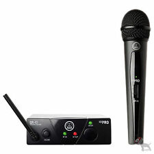 AKG Wireless WMS 40 Pro Mini Vocal Set Microphone and  Receiver Mic Band A