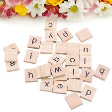 100pcs Wooden Alphabet Scrabble Tiles Black Letters For Crafts Wood