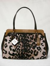 NWT COACH MADISON KIMBERLY OCELOT PRINT CARRYALL PURSE HANDBAG 25207 LI/KHAKI