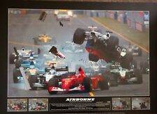 AIRBOURNE - RALPH SCHUMACHER LIMITED EDITION POSTER 90 CM X 46 CM READY TO FRAME