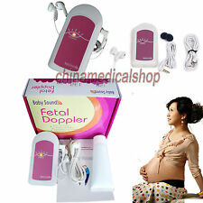 Pocket Fetal heart doppler Prenatal Baby Heart Sound Monitor Free GEL US seller
