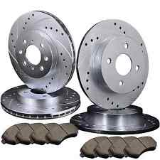[FRONT & REAR] 4 DRILLED & SLOTTED BRAKE ROTORS & 8 SEMI-METALLIC PADS ATL012470