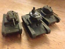 Flames of War 3x T-26 Luz Soviético Tanque finlandés 15mm Segunda Guerra Mundial anuncio ruso C
