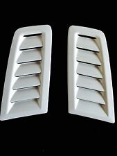 Focus RS MK2 style ABS plastic bonnet vents universal Fit Ford Profile White