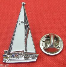 Yacht Yachting Lapel Hat Tie Pin Badge Boat Boating Sailer Brooch Gift Souvenir