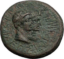 Augustus & Rhoemetalkes Client King of Thrace 11BC Ancient Roman Coin i55548