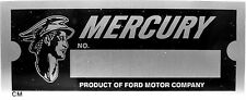 Mercury Lincoln Product Ford Motor Co Body Model Trim Number VIN Plate Tag part