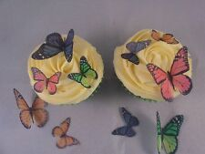 42 taille mixte papillons monarques * Sweet * Décorations Comestibles Cupcake