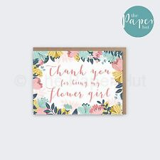 Flower Girl Card   Thank you for being my Flower Girl